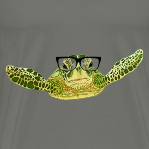 Turtle in glasses - Men's Premium T-Shirt