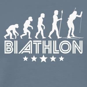 Retro Biathlon Evolution - Men's Premium T-Shirt
