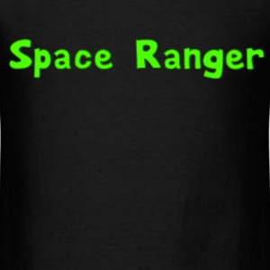Space Ranger Alien Green Tee Design T-Shirts - Men's T-Shirt