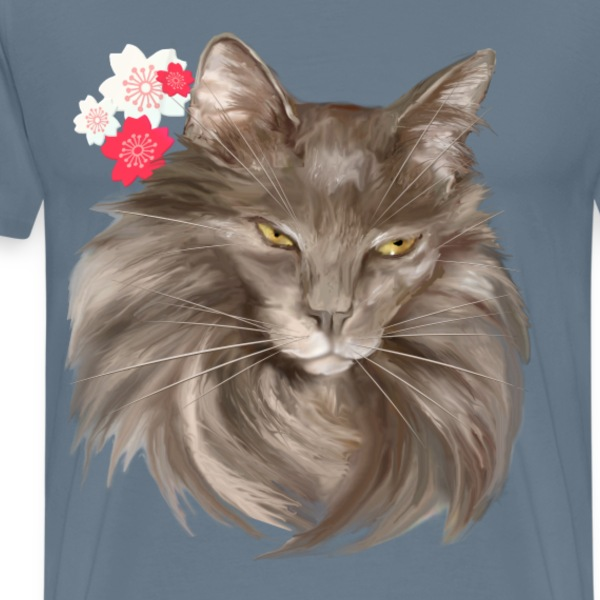 My Grey Lady and Cherry Blossoms - Men's Premium T-Shirt