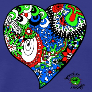 Funky heart design green blue red - Men's Premium T-Shirt