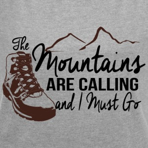 The Mountains Are Calling T-Shirts - Women's Roll Cuff T-Shirt