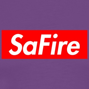 SaFire box logo tee - Men's Premium T-Shirt