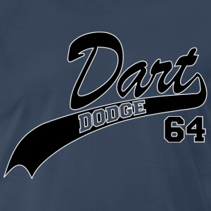 64 Dart - White Outline - Men's Premium T-Shirt