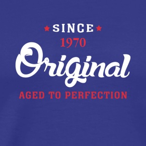 Since 1970 Original Aged To Perfection - Men's Premium T-Shirt
