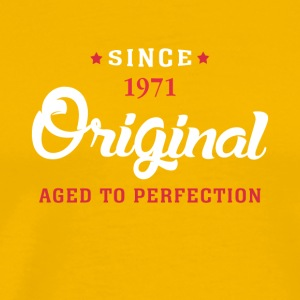 Since 1971 Original Aged To Perfection - Men's Premium T-Shirt