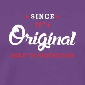 Since 1974 Original Aged To Perfection - Men's Premium T-Shirt