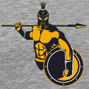 Greek Spartan warrior spear shield - Men's Premium T-Shirt