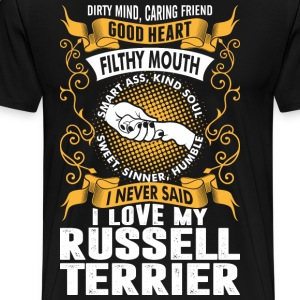 Caring Friend Good Heart I Love My Russell Terrier T-Shirts - Men's Premium T-Shirt