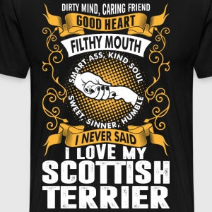 Caring Friend Good Heart I Love My Scottish Terrie T-Shirts - Men's Premium T-Shirt