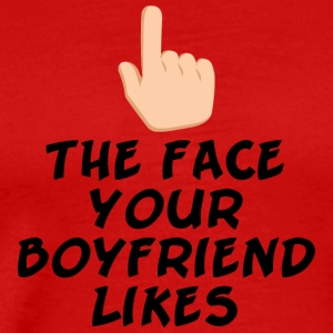 The face your boy friend likes - Men's Premium T-Shirt