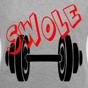 SWOLE - FUNNY GYM COUPLE T-Shirts - Women´s Roll Cuff T-Shirt