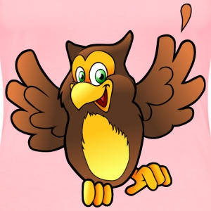 happy owl - Women's Premium T-Shirt