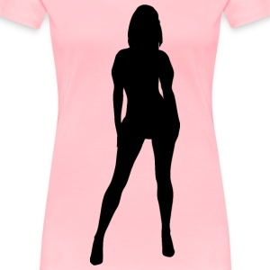 Woman silhouette - Women's Premium T-Shirt