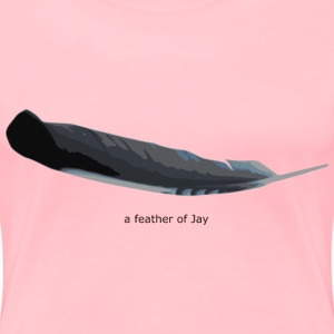 feather of Jay - Women's Premium T-Shirt