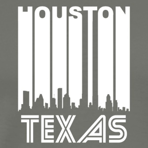Retro Houston Skyline - Men's Premium T-Shirt