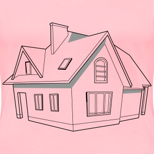 Modern house svg image for Videoscribe - Women's Premium T-Shirt