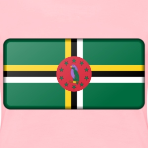 Flag of Dominica (bevelled) - Women's Premium T-Shirt
