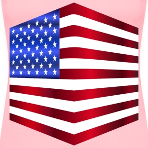 USA Flag Cube - Women's Premium T-Shirt