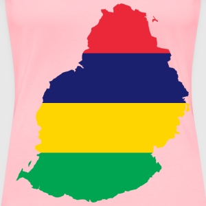 Mauritius Flag Map - Women's Premium T-Shirt
