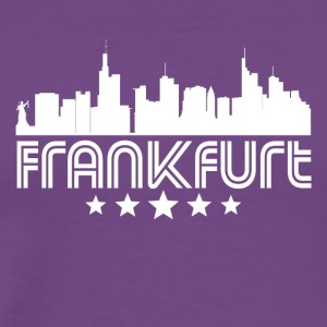 Retro Frankfurt Skyline - Men's Premium T-Shirt