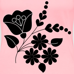 Flower ornament folk art remix - Women's Premium T-Shirt
