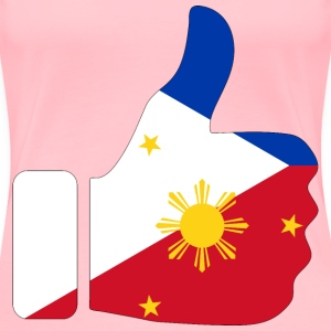 Thumbs Up Philippines With Stroke - Women's Premium T-Shirt