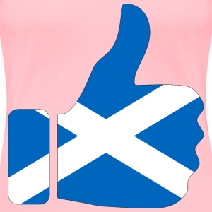 Thumbs Up Scotland With Stroke - Women's Premium T-Shirt