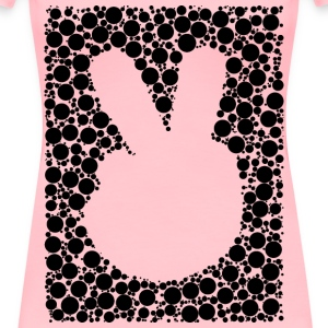 Negative Space Comic Peace Hand Circles - Women's Premium T-Shirt