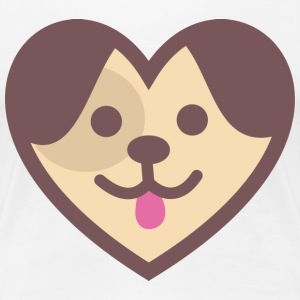 Puppy Heart T-Shirts - Women's Premium T-Shirt
