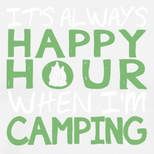Camping Happy Hour Shirt - Men's Premium T-Shirt
