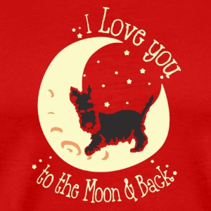 I Love You To The Moon And Back Shirt - Men's Premium T-Shirt