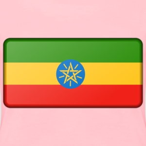 Flag of Ethiopia (bevelled) - Women's Premium T-Shirt