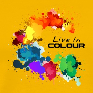 Live In Colour - Paint Splashes Colour Tee - Men's Premium T-Shirt