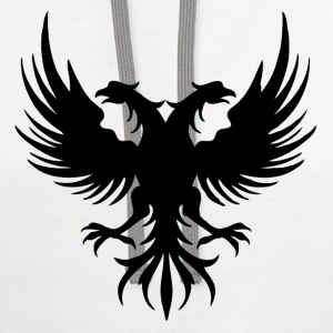 Style Albanian Eagle - Contrast Hoodie
