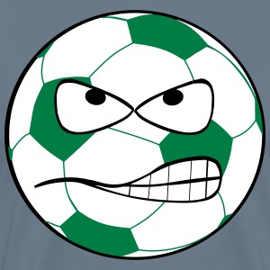 Angry Soccer Ball - Men's Premium T-Shirt