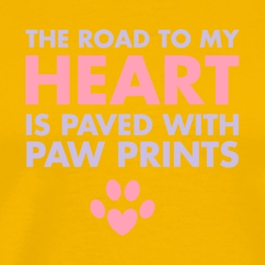 The Road To My Heart Is Paved With Pawprints Shirt - Men's Premium T-Shirt