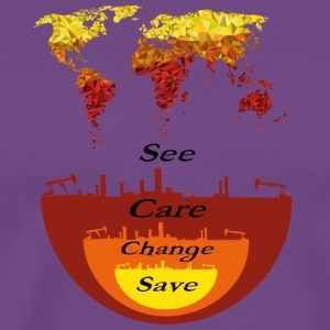 See, Care, Change, Save Our Earth - Men's Premium T-Shirt