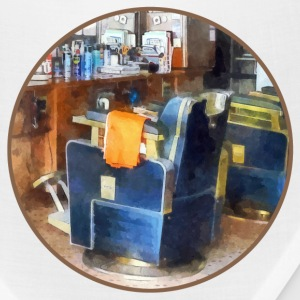 Barber Chair With Orange Barber Cape Caps - Bandana