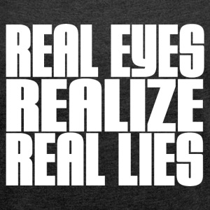 REAL LIES T-Shirts - Women´s Rolled Sleeve Boxy T-Shirt