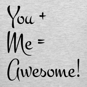 YOU + ME = AWESOME RELATIONSHIP LOVE Sportswear - Men's Premium Tank
