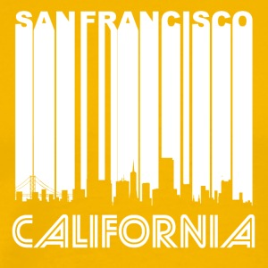 Retro San Francisco Skyline - Men's Premium T-Shirt