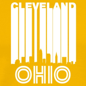Retro Cleveland Skyline - Men's Premium T-Shirt