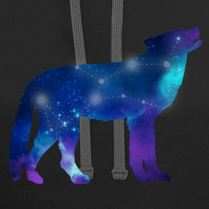 Wolf Lupus Constellation Astrology Hoodies - Contrast Hoodie
