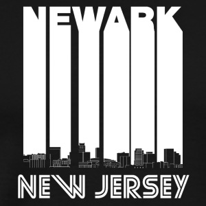 Retro Newark New Jersey Skyline - Men's Premium T-Shirt