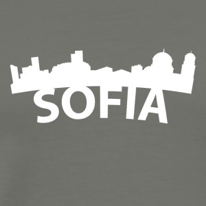 Arc Skyline Of Sofia Bulgaria - Men's Premium T-Shirt