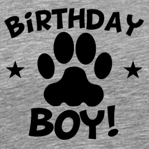 Birthday Boy Paw Print - Men's Premium T-Shirt