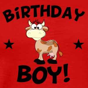 Birthday Boy Cartoon Cow - Men's Premium T-Shirt