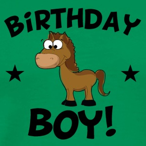 Birthday Boy Cartoon Horse - Men's Premium T-Shirt