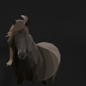Low Poly Icelandic Horse - Men's Premium T-Shirt